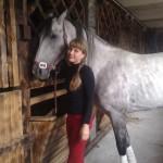 С лошадью после прогулки