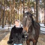 В леваде с конем